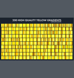 Yellow chrome gradient setpatterntemplatesun vector