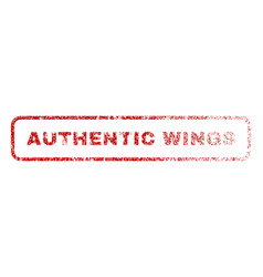 authentic wings rubber stamp vector image vector image