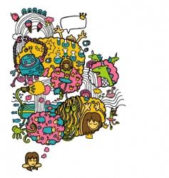 cartoon fairy designs vector image vector image