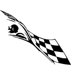 Checkered flag - symbol racing vector image