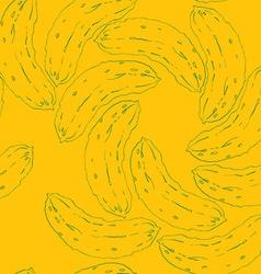 cucumber vortex pattern vector image