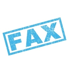 Fax rubber stamp vector