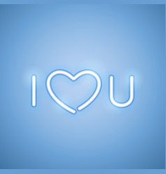 i love you blue neon banner vector image vector image