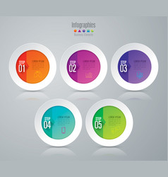 Infographics design with 5 step vector