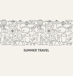 summer travel banner concept vector image