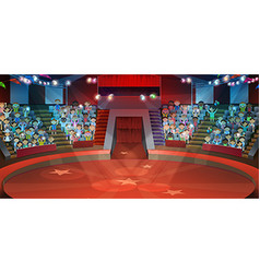 Circus arena background vector image