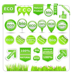 Green eco design elements vector