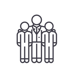 mentormentorshipcoaching line icon sign vector image