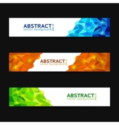 Set of abstract polygonal banners vector image