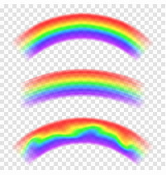 transparent rainbow isolated on background set of vector image vector image