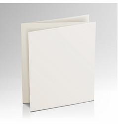 Blank folder white brochure 3d mockup vector