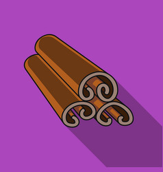 Cinnamon icon in flat style isolated on white vector