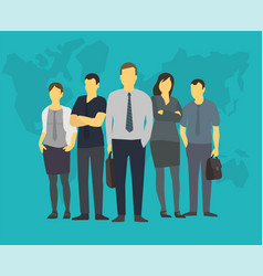 Company team business group people of office vector