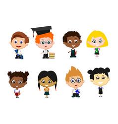 set of pupils vector image