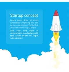 Startup concept vector image vector image