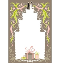 Wedding card with space for text vector image vector image