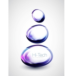 Abstract glass shapes vector image