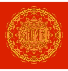 Mandala Round Ethnic Pattern vector image vector image