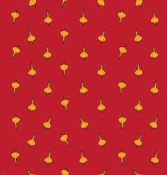 onion sparse pattern red vector image vector image