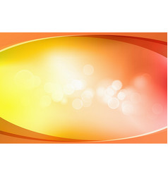 orange bokeh abstract light background vector image