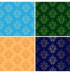 set of light and dark seamless vintage patterns vector image vector image