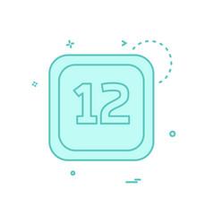 12 date calender icon design vector image