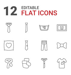 12 fabric icons vector