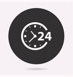 24 hour service - icon vector image