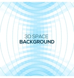 Abstract geometric background in 3D space vector image