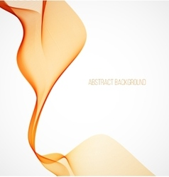Abstract orange wavy background vector