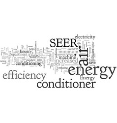 Air conditioners for greater energy efficiency vector