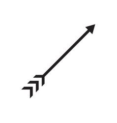 arrow hunting icon symbol vector image
