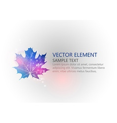 background autumn single leaf text blue vector image