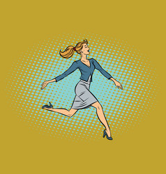 beautiful businesswoman elegantly runs vector image