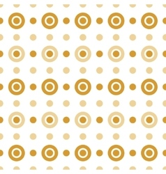 Beige and gold circles vector image