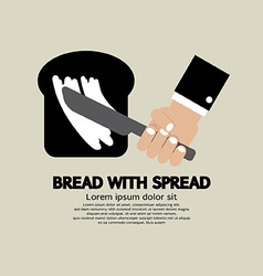 Bread with Spread vector image