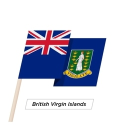British Virgin Islands Ribbon Waving Flag Isolated vector image