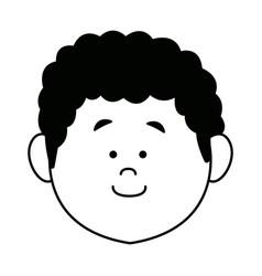 Cartoon face man person avatar male profile vector