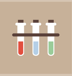 chemistry icon test tube fluid reaction vector image