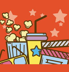 cinema cartoons design vector image