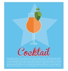 Cocktail mint leaf olive star background vector