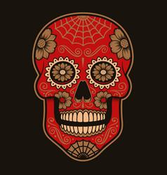 Coloured mexican sugar skull vector
