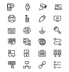 Communication Line Icons 4 vector image