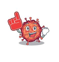 Contagious corona virus mascot cartoon style vector