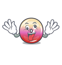 crazy jelly ring candy mascot cartoon vector image