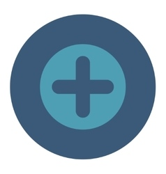 Create flat cyan and blue colors round button vector