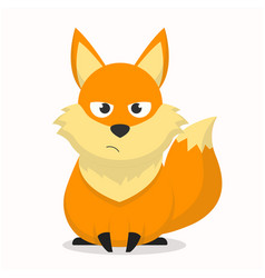 Cute fox character with an annoyed expression vector