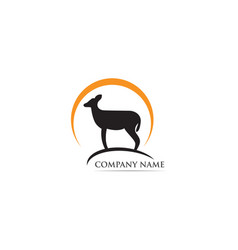 deer logo and symbol vector image