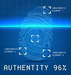 Digital authentity finger scan vector