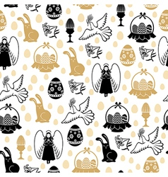 easter angel pattern vector image
